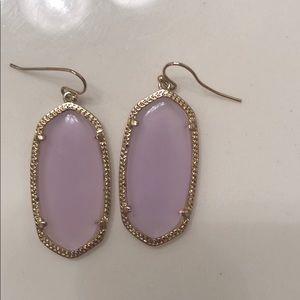 Kendra Scott light pink Elle earrings